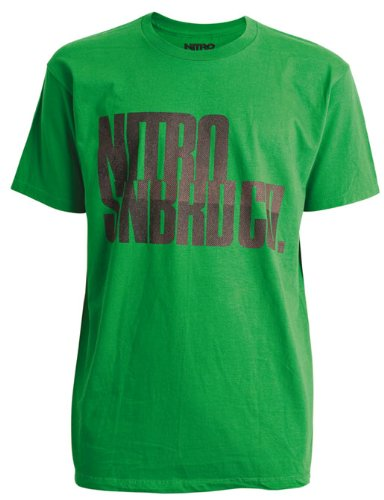 Nitro Snowboards T-Shirt Manica Corta Industrial Strenght Verde L
