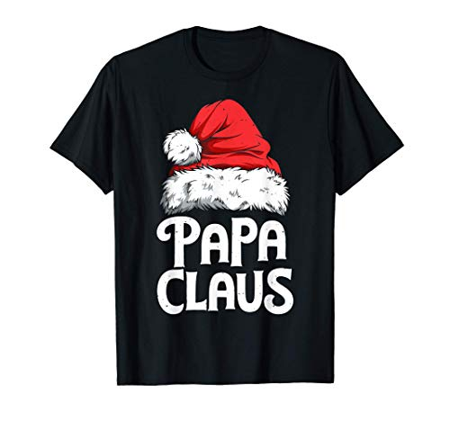 Papa Claus Christmas Dad Santa Family Matching Pajamas Xmas T-Shirt