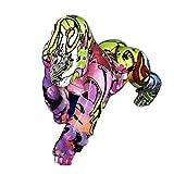 H HILABEE Figura de Gorila Pintada Colorida Escultura Decorativa Estatua Escritorio Oficina Estudio ...