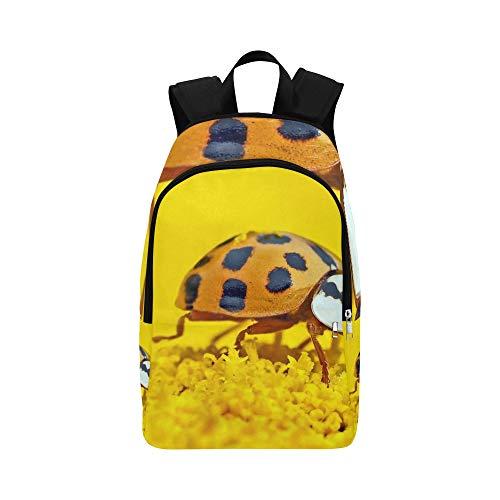 Marien Beetles Harmonia Axyridis Lucky Ladybug Casual Daypack Travel Bag...