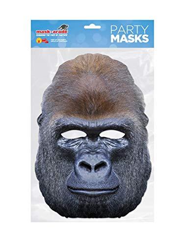 Rubies-Mascara gorila adulto talla unica, (Rubie'S Spain GORIL01)