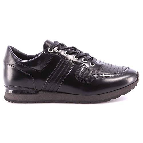 Scarpe Uomo Sneakers BIKKEMBERGS BKE108232 Mant 380 Leather Brushed Black Nere