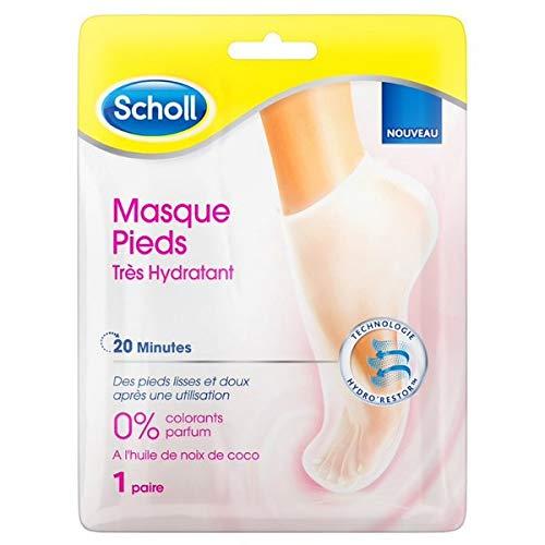 Scholl - Masque Pieds Très Hydratant Huile de Noix De Coco - 1 Masque