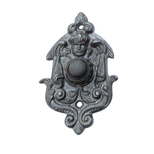 Klingel Türklingel mit Engel Historismus Gusseisen antik #K21-ORB