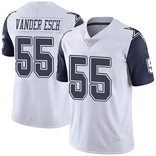 ZJFSL NFL Football Jersey Herren Dallas Cowboys # 55 Besticktes Fußballtrikot Kurzarm Sport Top T-Shirt Game Jersey,D-55,XL