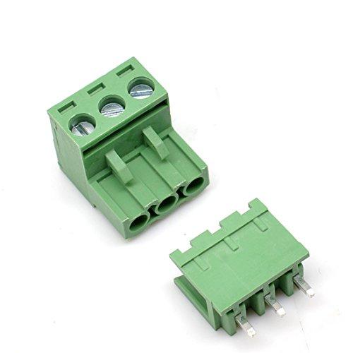 Oiyagai PCB-Schraubklemme, 5,08 mm, männlich, weiblich 3P x 20 Set