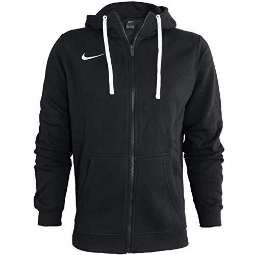 Nike Club19 Full-Zip, Felpa con Cappuccio Uomo, Black/Black/White/White, S