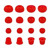 ALXCD Ear Tips for Powerbeats3 Wireless Earphone, SML 3 Sizes 6 Pair Earbud Tips & 2 Pair Double Flange Silicone Replacement Ear Tip Cushion, Fit for Beats Powerbeats 3 Wireless 3 [8 Pair](Red)