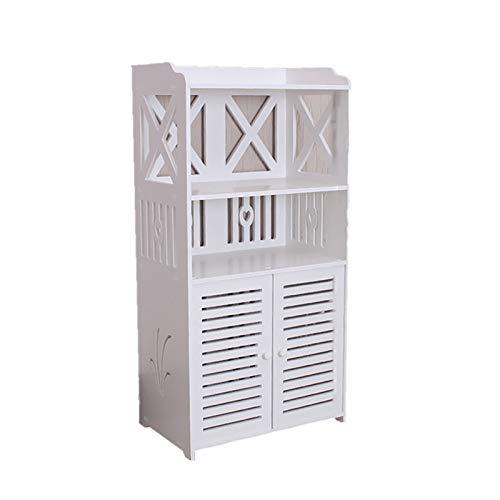 BTTNW Mobiletto WC Bathroom Racks Toilet Storage Angolo Rack per Servizi Igienici Armadi di Stoccaggio WC Side Armadi Adatto per Conservare Articoli da Toeletta (Colore : White, Size : 25X40X90CM)