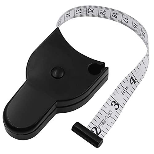 Pyude Cinta métrica retráctil Regla de medición Corporal autoapriete, 150 cm / 60 Pulgadas Regla de Medida de Medida Corporal de Costura a Medida Regla de Corte y confección para la Vida Diaria