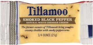 Tillamook Smoked Black Pepper White Cheddar Cheese, 0.75 Ounce -- 100 per case.