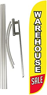LookOurWay Warehouse Sale Feather Flag Complete Set with Pole & Ground Spike