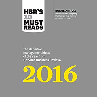 HBR's 10 Must Reads 2016 cover art