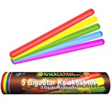 5 grandi luci chimiche GigaStar colorate fluorescenti, 5 colori assortiti, 300 x 15 mm