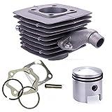 YUSHAOLI YSLI® 80cc Motor del Motor de pistón del Cilindro de Insignias de 40mm en Forma for el Motor de la Bicicleta de la Bici motorizada