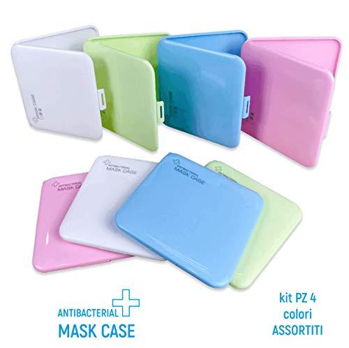[ 4 Stück ] – Schutzhülle für Masken, Antibakteriell, geeignet für Erwachsene und Kinder, Organizer für Taschen und Taschen, verschiedene Farben