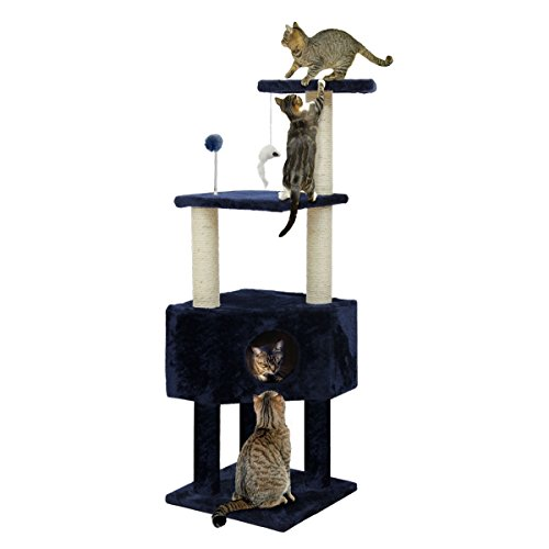 Furhaven Pet Cat Tree | Tiger Tough Cat Tree House Condo Entertainment...