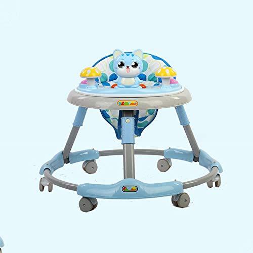 DUANYR-Baby Walker Andador para bebés, Ruedas de 6/7-18 Meses Multifunción Anti-vuelco para niños Plegador para el Andador para bebés, niñas, niños Carga máxima 15 kg