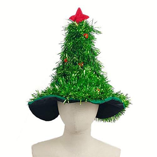 Amosfun Forma de árbol de Navidad Sombrero Sombrero de Paja Lindo Accesorios de Disfraces Vestido de Fiesta...