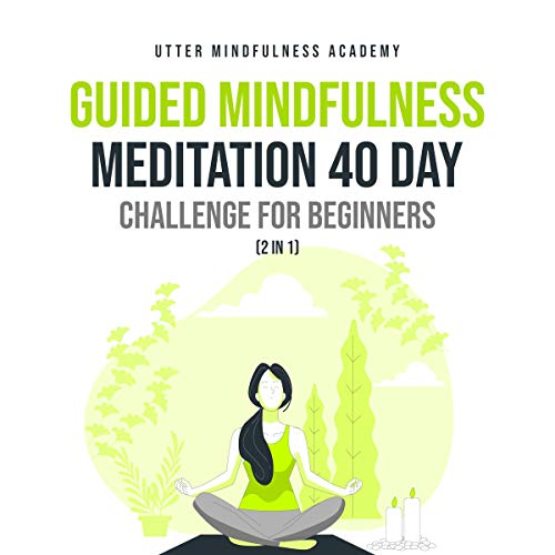 Guided Mindfulness Meditation 40 Day Challenge for Beginners (2 in 1)  By  cover art