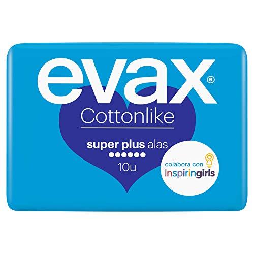 Evax Cottonlike super plus - Compresas con alas, 10 unidades