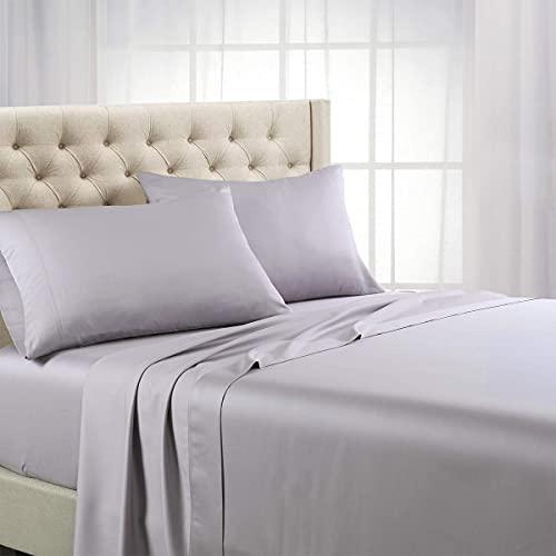 Royal Hotel Bedding ABRIPEDIC Tencel Sheets, Silky Soft and Naturally Pure Fabric, 100% Woven Tencel Lyocell Sheet Set, 4PC Set, Queen Size, Iris