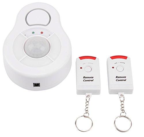Olympia BMD 210 Decken-Bewegungsmelder (mit Alarm, Kabellose Alarmanlage, 360° Erfassung, Fernbedienung, Drahtloser PIR-Bewegungssensor mit Batterie, IR Infrarot-Alarmmelder für Innen)