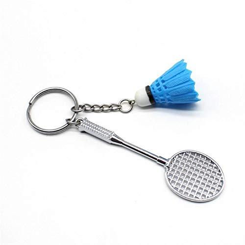 Dauerhaft Sport Schlüsselanhänger Spielzeug Charme Bag Anhänger Geschenk DIY Handgemacht Keychain Badminton Schläger Keychain Mehrzweck-Schlüsselbund (Color : 1, Size : 8 cm)