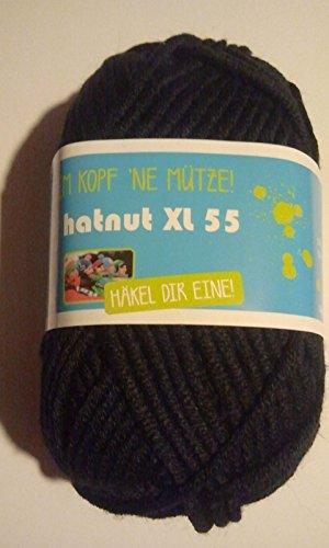 Original hatnut Mützenwolle XL 55 schwarz