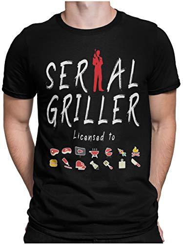STAMPATEK Maglietta Serial Griller T-Shirt Barbecue Grigliata Idea Regalo Maglia Uomo Divertente Manica Corta con Scritte