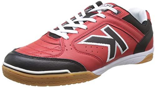 Kelme Precision Leather, Zapatillas de fútbol Sala Hombre, Rojo (Rojo Y Negro 145), 42 EU