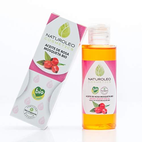 Naturoleo Cosmetics - Aceite Rosa Mosqueta BIO - 100% Puro y Natural Ecológico Certificado - 50 ml