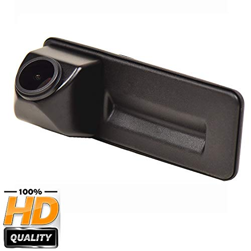 Nachtsicht Wasserdicht Farbkamera 170° HD Rückfahrkamera Kennzeichenleuchte Einparkhilfe Kamera für Skoda Roomster Fabia Y6 Octavia 1Z5 Yeti Superb Audi A1