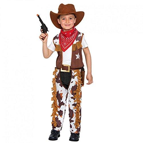 Fyasa 706383-TBB Disfraz de vaquero para 1 a 2 años, multicolor, pequeño