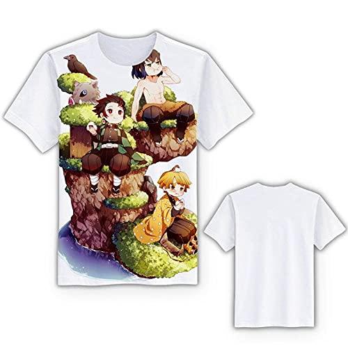 Unisex Camiseta Estampada Hombre,Hoja de Fantasmas 3D Impresión Digital Camiseta Hombres y Mujeres Mangas Cortas casuales-AT31122077_3XLARGE