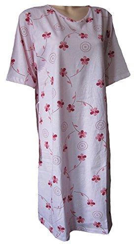 Pflegehemd KURZARM L/XL in hochwertiger Jerseyqualität mit offenem Rückenteil - für die prof.Pflege rosa