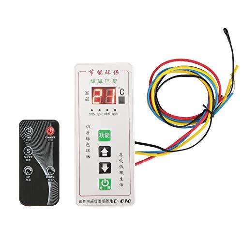 Operación Controlador de termostato digital simple, controlador de temperatura, calentadores eléctricos Diagnóstico automático para controlador de termostato para(XD-016 white)
