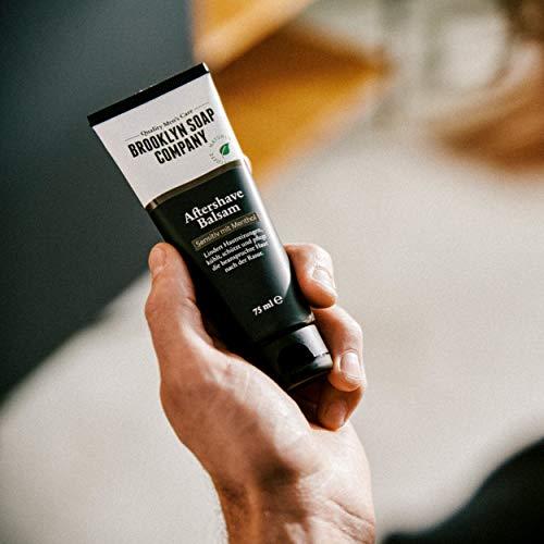 Brooklyn Soap Company Aftershave balsam 75ml · brooklyn soap company · natürliche männerpflege nach der rasur · lindert hautreizungen wirkt antibakteriell und beruhigt die haut