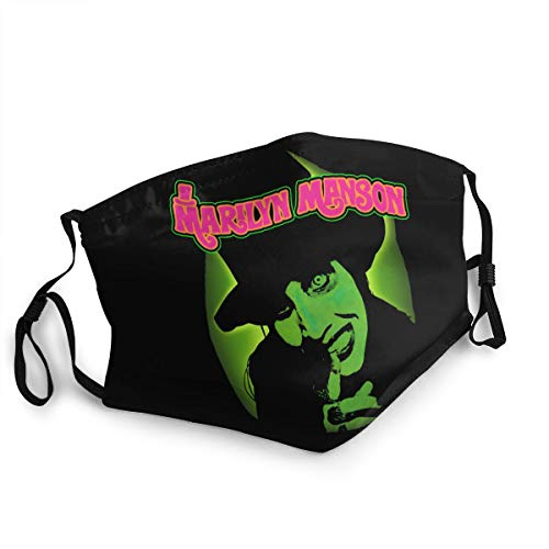 Marilyn Manson Reusable Breathable Face Mask Anti-Dust Wind Mouth Mask Black