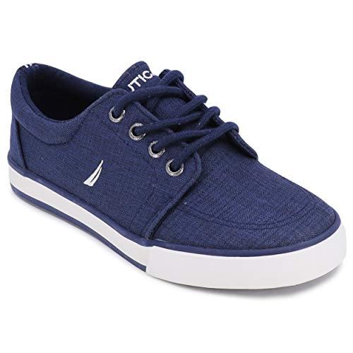 Nautica Kid's Lace Up Casual Shoe Athletic Sneaker - Berrian Big Kid Little Kid-Berrian Crepe-Navy-2