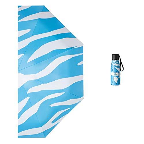 Paraguas plegable plegable pequeño y portátil, paraguas de goma negro, para mujer, sol o lluvia, doble uso, protección solar y protección UV reutilizable/A BJY969 (color: B)