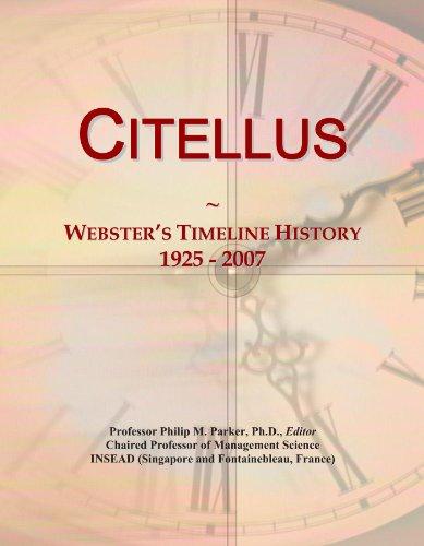 Citellus: Webster's Timeline History, 1925 - 2007