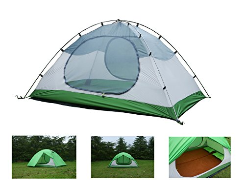 Luxe Tempo 2 Person Ultralight Tents for Camping with Footprint High-end Silnylon Backpacking Tents Aluminum Poles 2 Doors 2 Vestibules