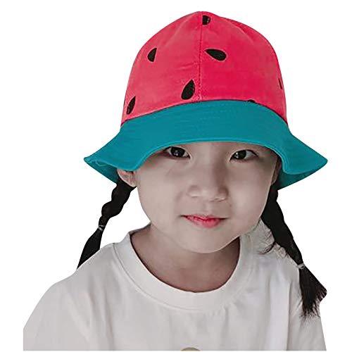 FRMUIC Sombrero de sol para bebé, diseño de dibujos animados de verano para playa, senderismo, pesca con ala ancha para niños y niñas