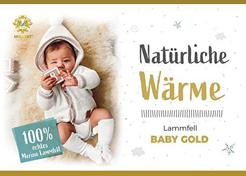 Baby Lammfell Schaffell medizinisch ökologisch gegerbt waschbar Bettauflage Unterbett Fellteppich Größe 120-130