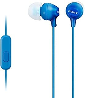 Sony MDR-EX15AP Earphone with Mic, Blue