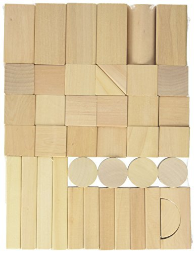EverEarth Natural Wood Blocks, 80 Pieces by EverEarth
