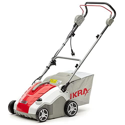 IKRA 80200850 escarificador y aireador eléctrico IEVL 1738, Saco coletor 50l, Largo de Trabajo 38cm, 1700 W, 230 V
