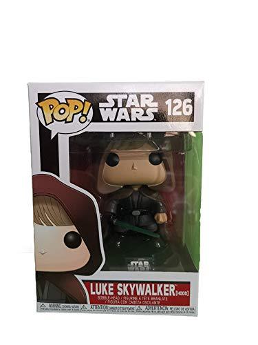 Funko 11310–Figura de Star Wars Pop Vinyl 126Luke Skywalker (con Capucha)–Convencion galactica, 9 cm
