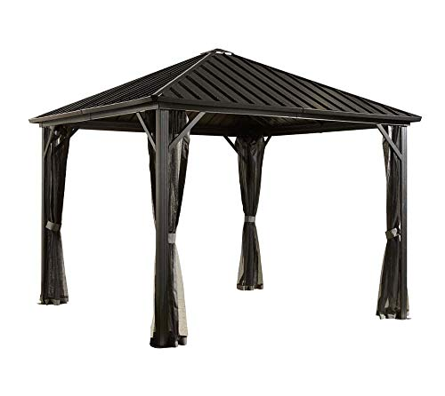 Sojag Dakota - Cenador de acero (3 x 3 m, 10 x 10, para jardín, aluminio, 300 x 300 cm)